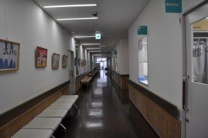 写真:検査室前廊下