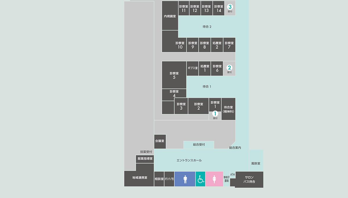 1階(一般外来)案内図